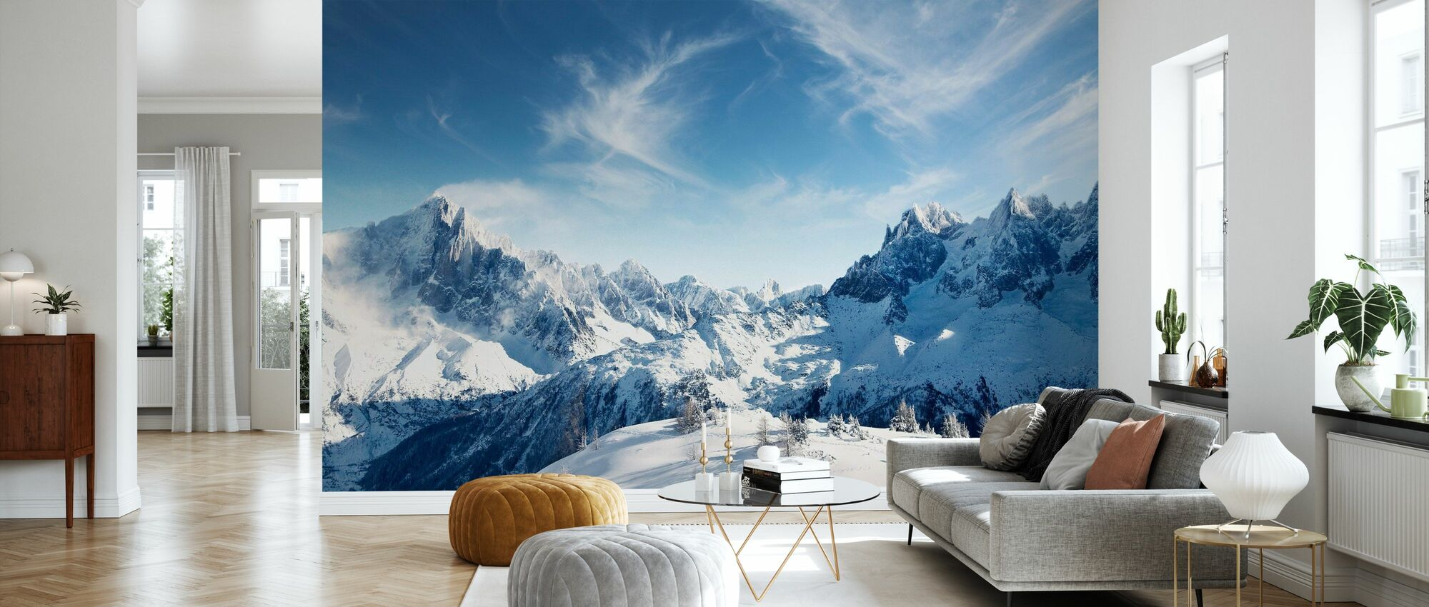Sunny Alps in Chamonix - Wallpaper - Living Room
