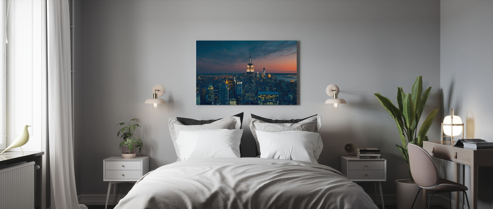 Aerial View of Manhattan at Sunset - Canvas print - Bedroom