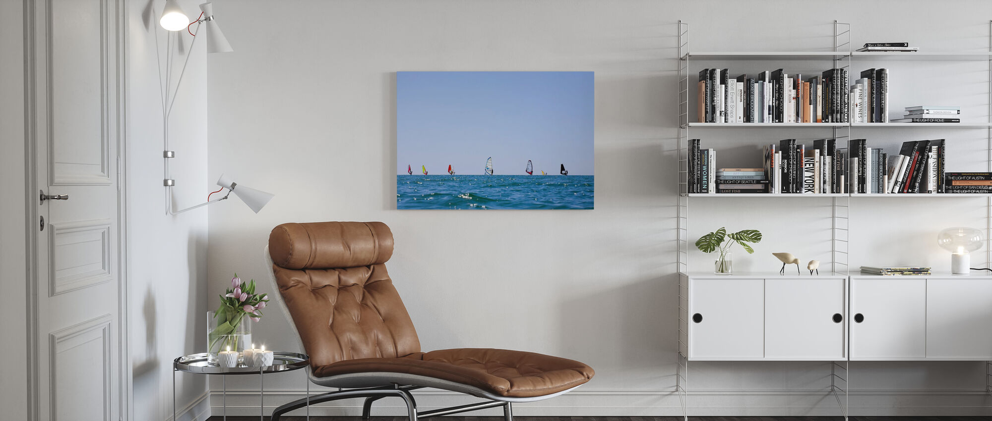 Windsurfing in Varberg, Sweden - Canvas print - Living Room