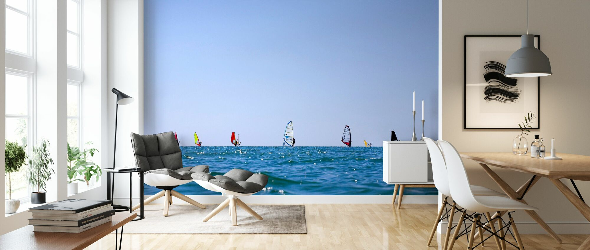 Windsurfing in Varberg, Sweden - Wallpaper - Living Room