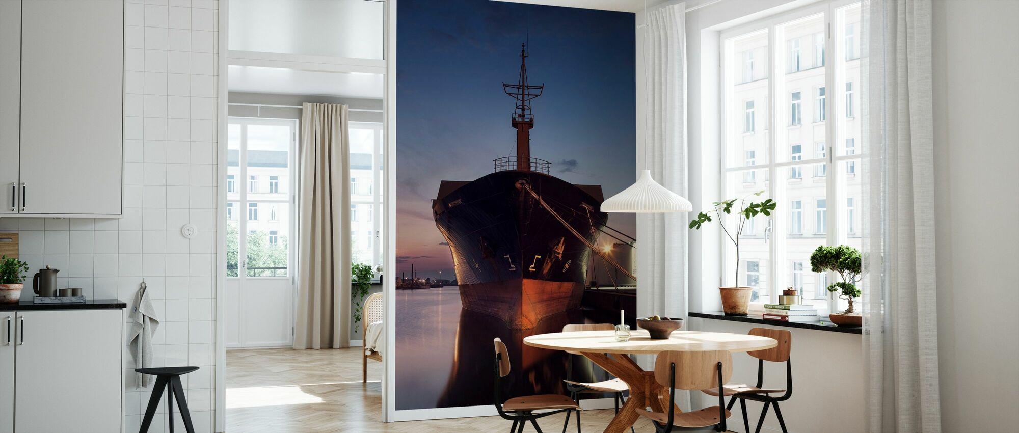 Schip in de oostelijke haven, Malmö Zweden - Behang - Keuken