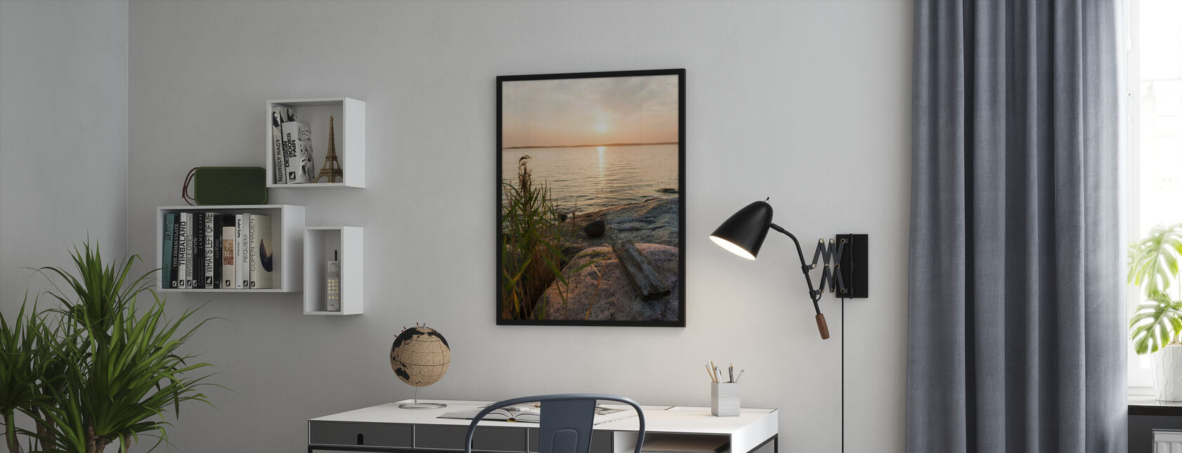Sunset over Nässlingen, Sweden - Poster - Büro