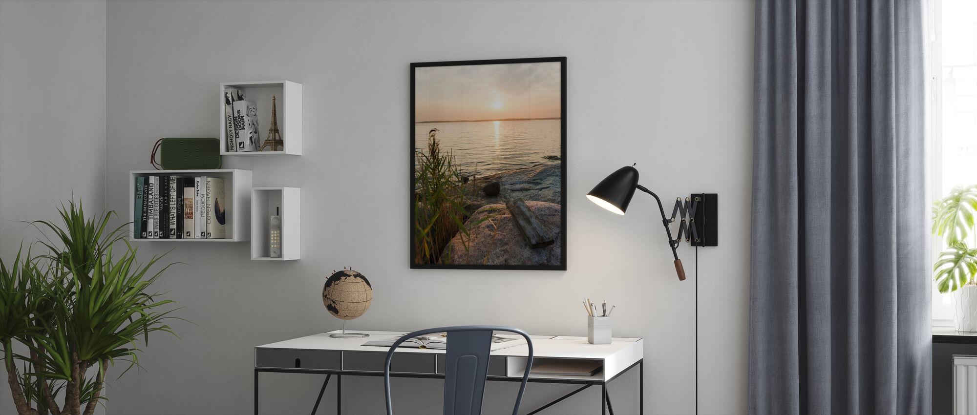 Sunset over Nässlingen, Sweden - Poster - Office
