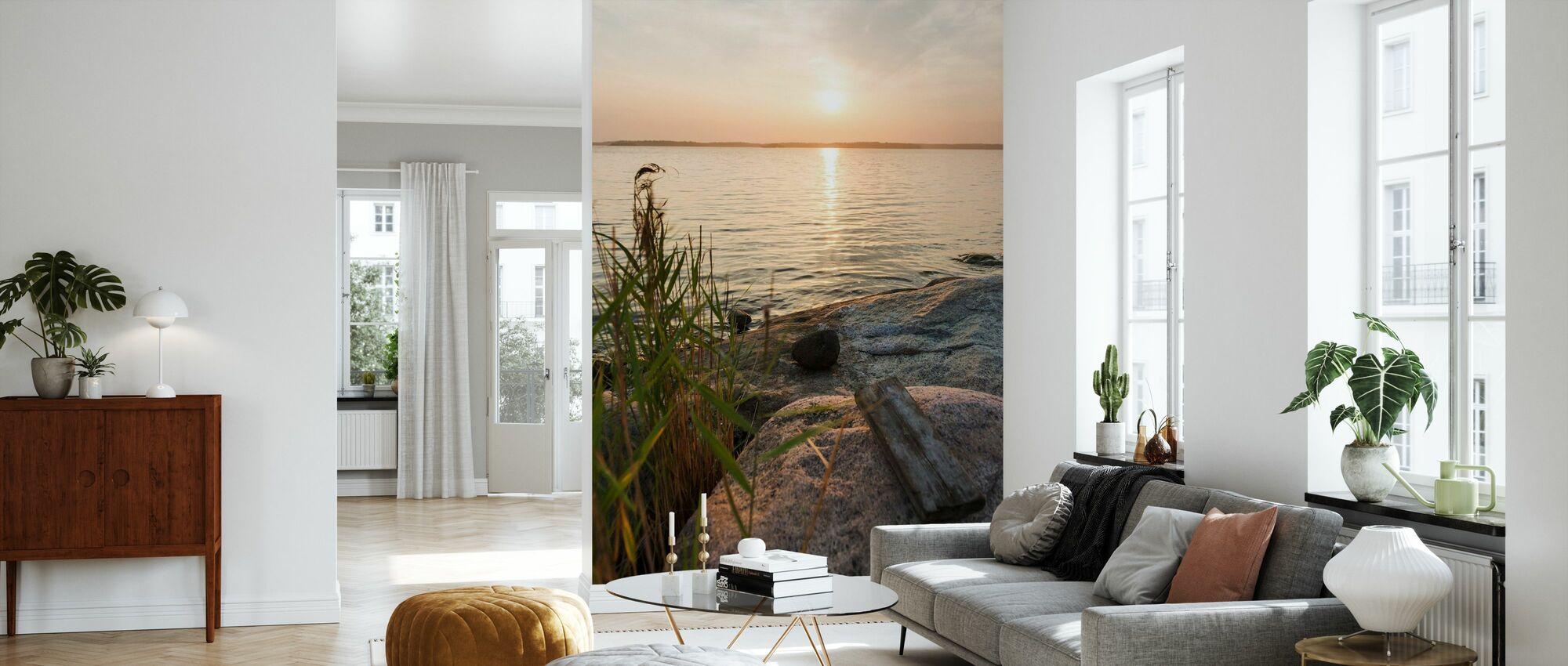 Sunset over Nässlingen, Sweden - Wallpaper - Living Room