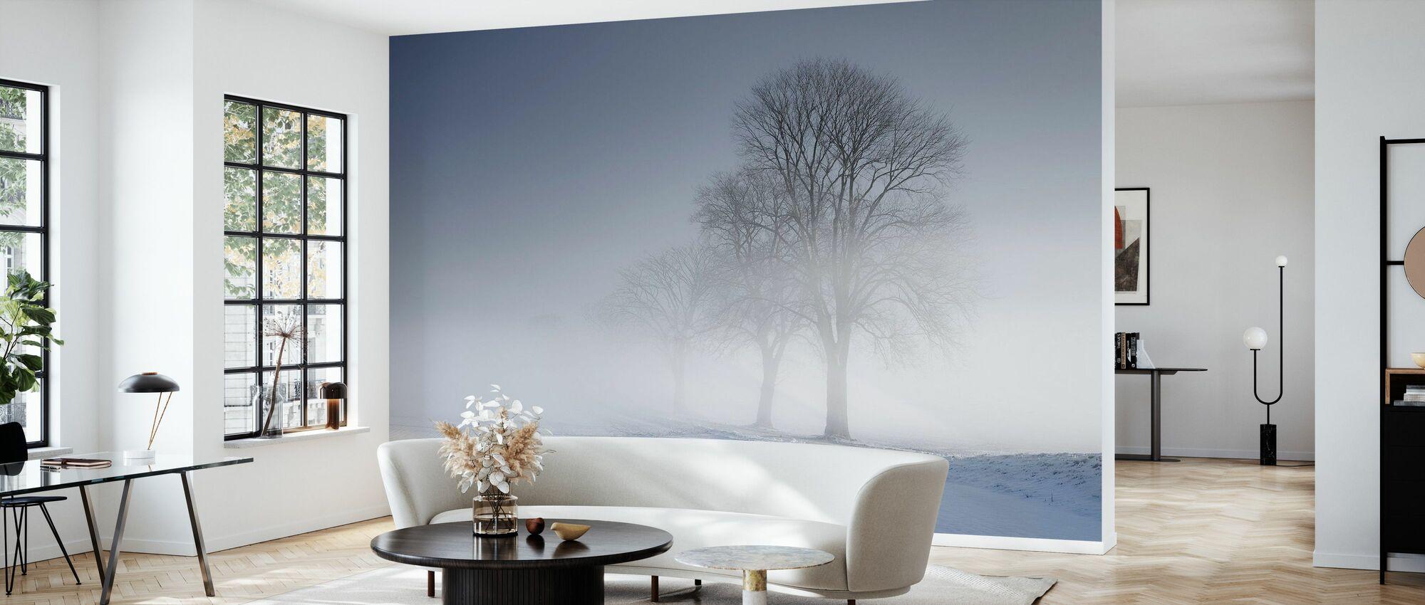 Winter Landscape in Skabersjö, Sweden - Wallpaper - Living Room