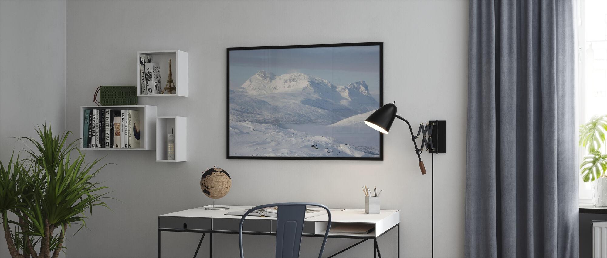 Sneklædte bjerge i Lapland, Sverige - Plakat - Kontor