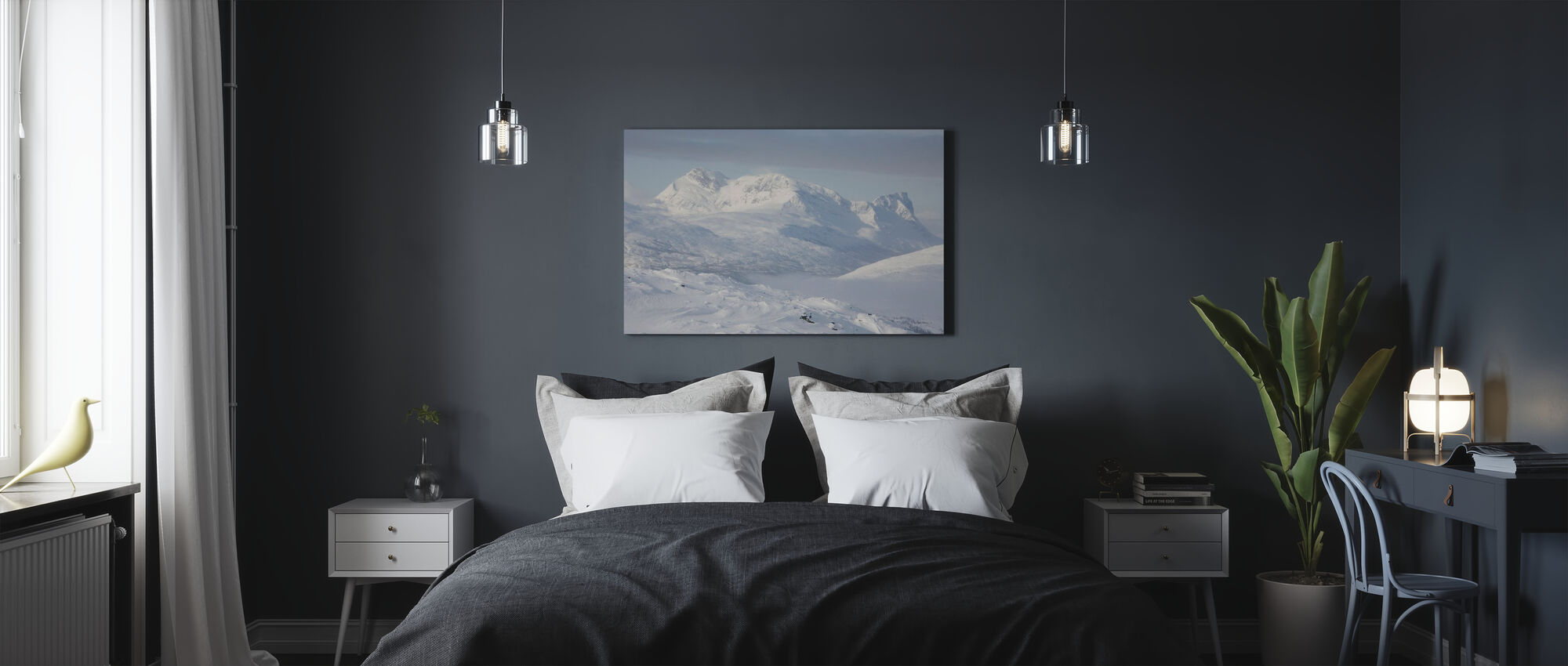 Snowy Mountains in Lapland, Sweden - Canvas print - Bedroom