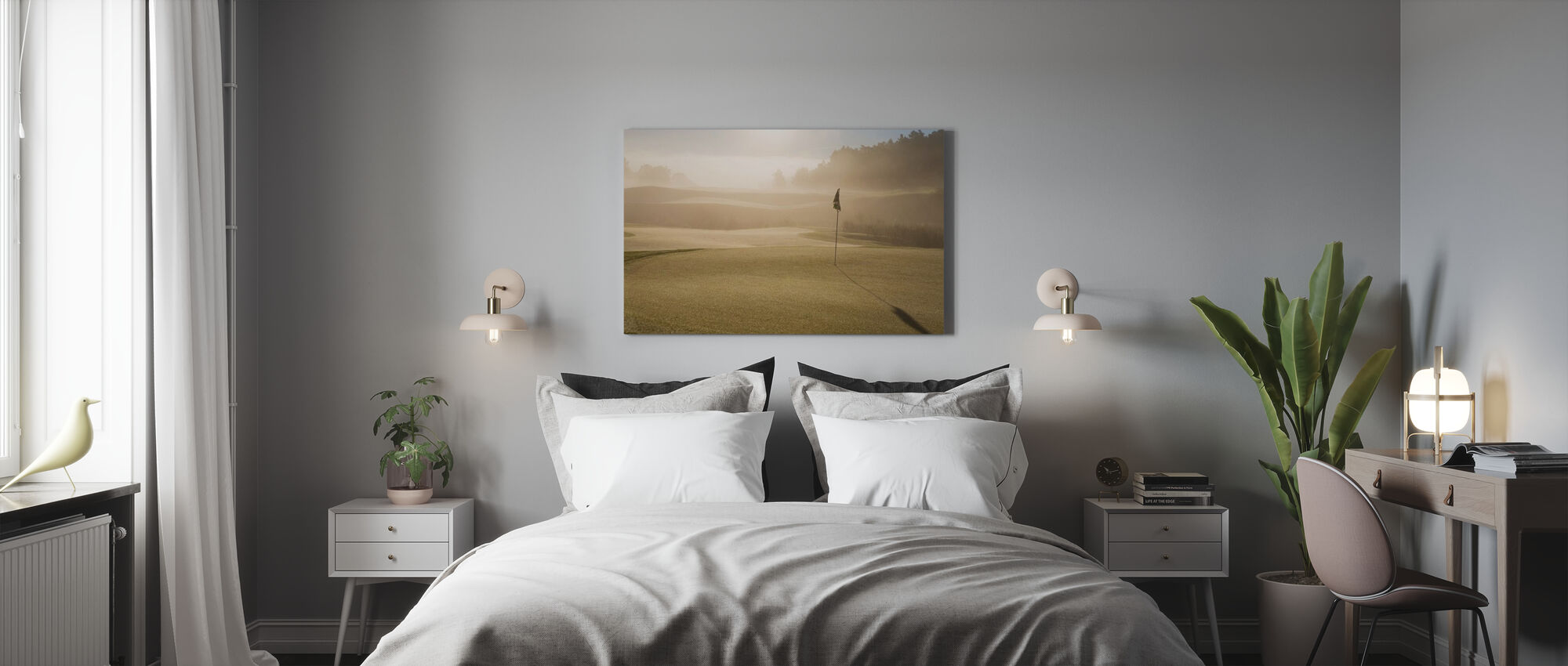 Golf Court in Mölndal, Sweden - Canvas print - Slaapkamer