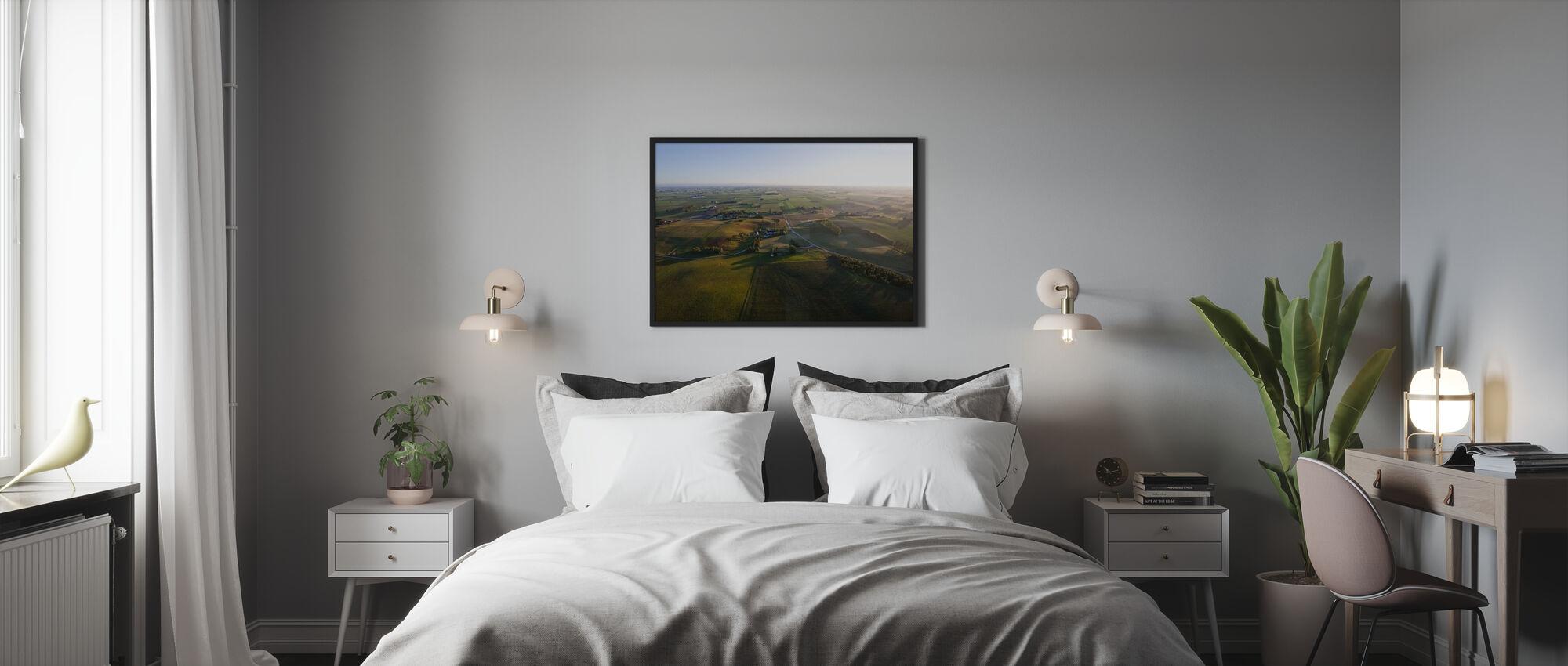 Aerial View of Skåne Countryside, Sweden - Poster - Bedroom