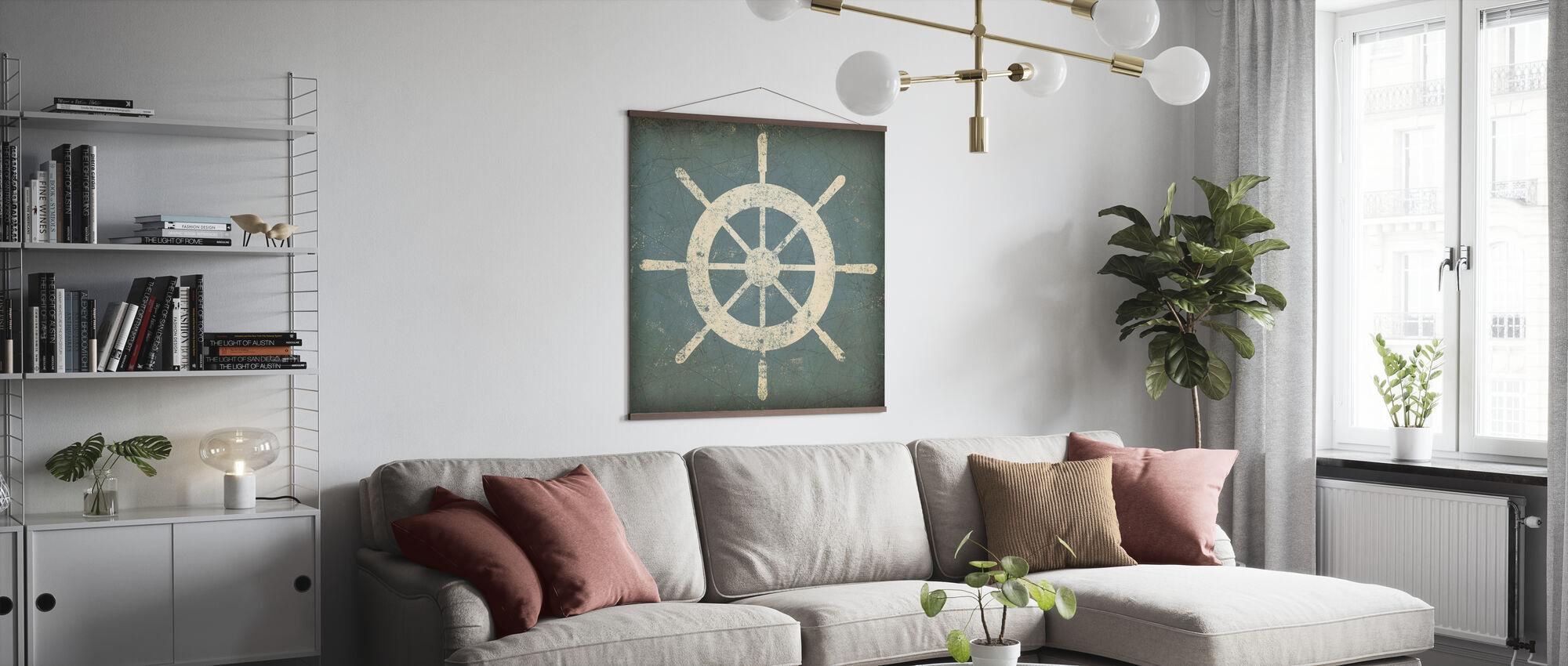 Nautisches Schiffrad - Poster - Wohnzimmer