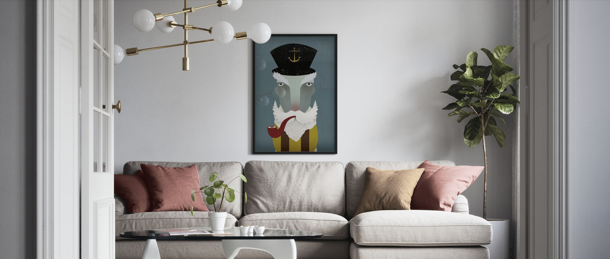 Fisherman - Poster - Living Room