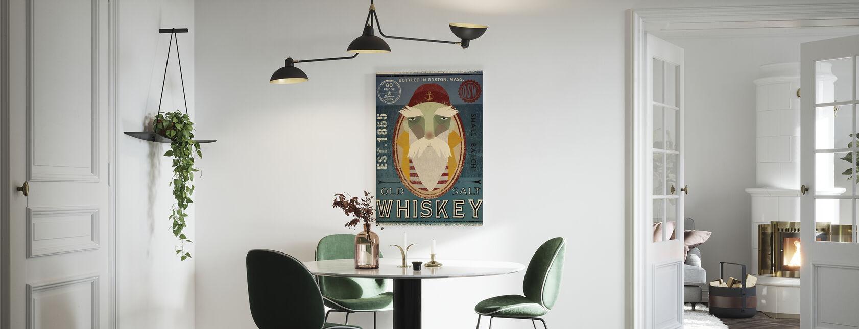 Old Salt Whiskey - Canvas print - Kitchen