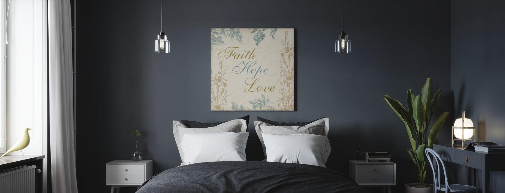 Geloof Hoop Liefde - Canvas print - Slaapkamer