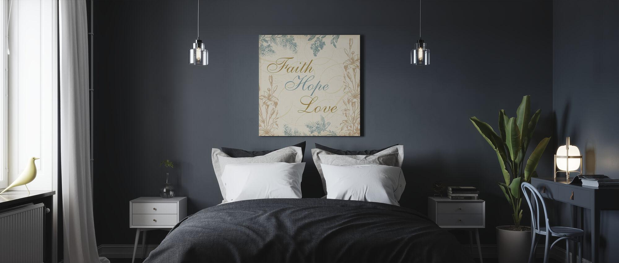 Faith Hope Love - Canvas print - Bedroom