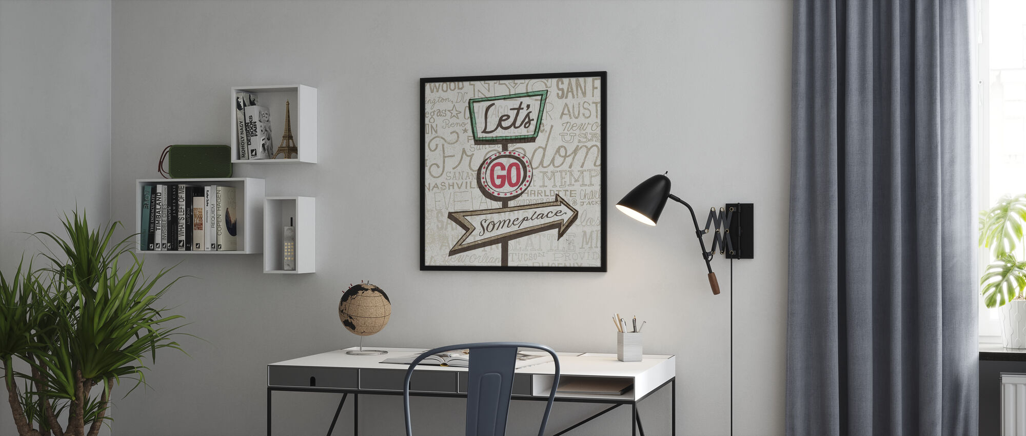 Road Trip - Lets Go - Poster - Office