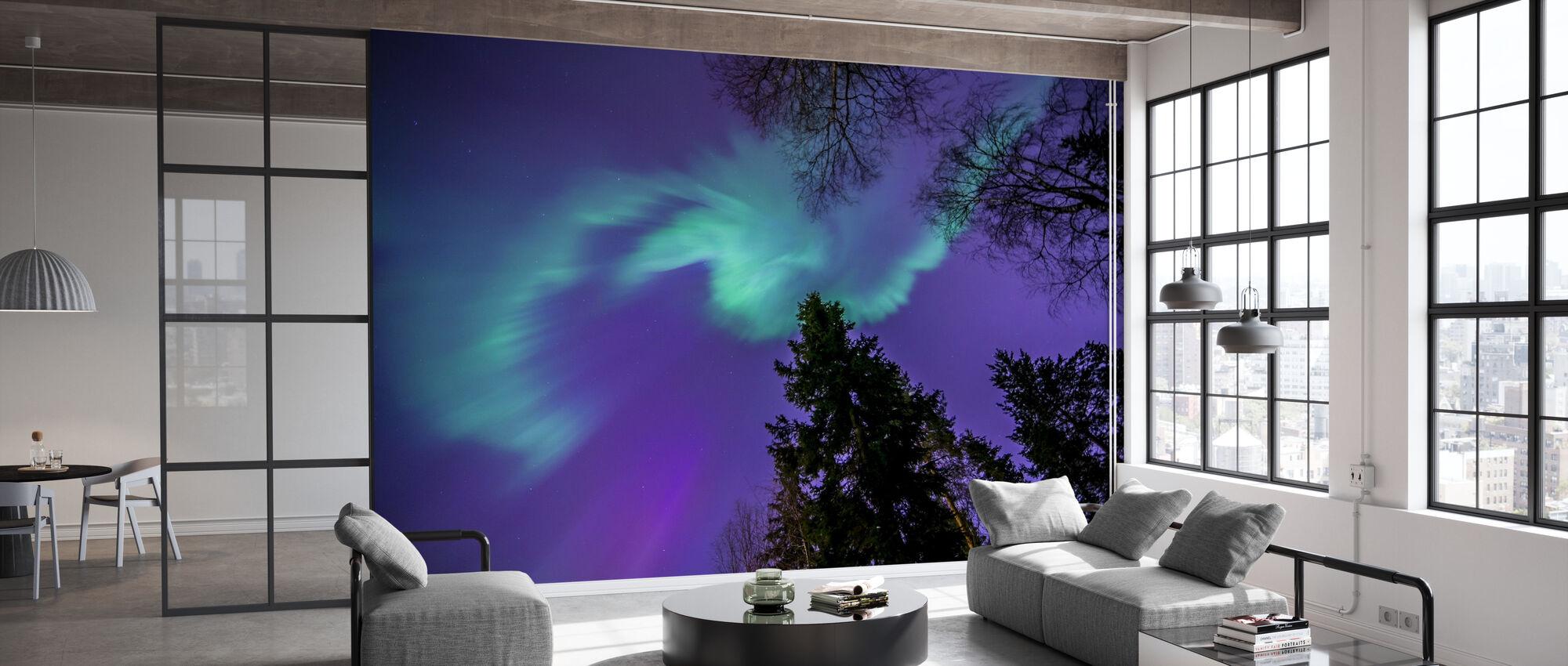 Northern Light - Violetti taivas - Tapetti - Toimisto