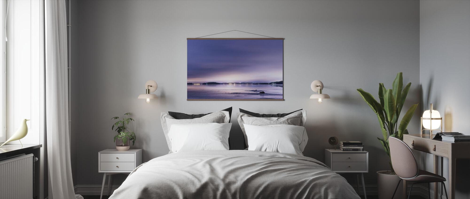Purple Evening - Poster - Bedroom