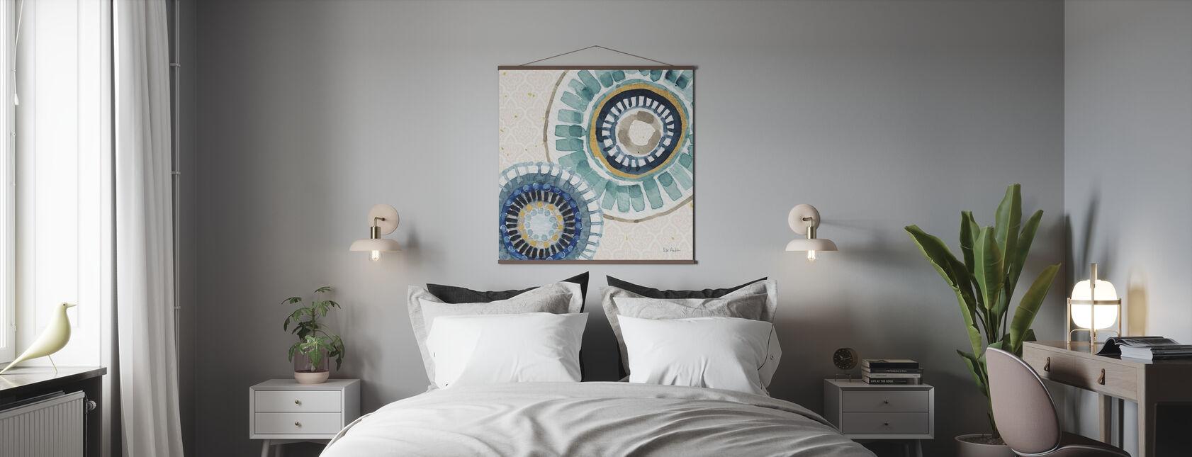 Indigold Patroon - Poster - Slaapkamer