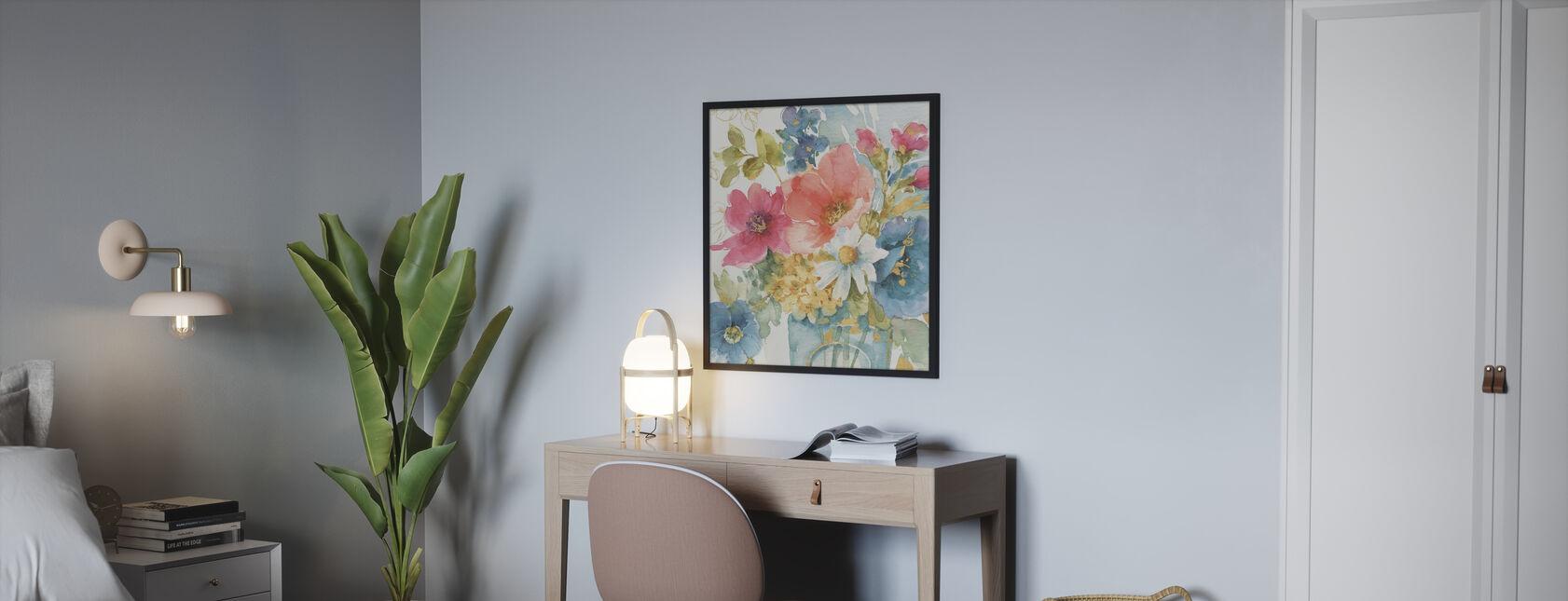 Mein Garten Blumenstrauß - Gerahmtes bild - Schlafzimmer