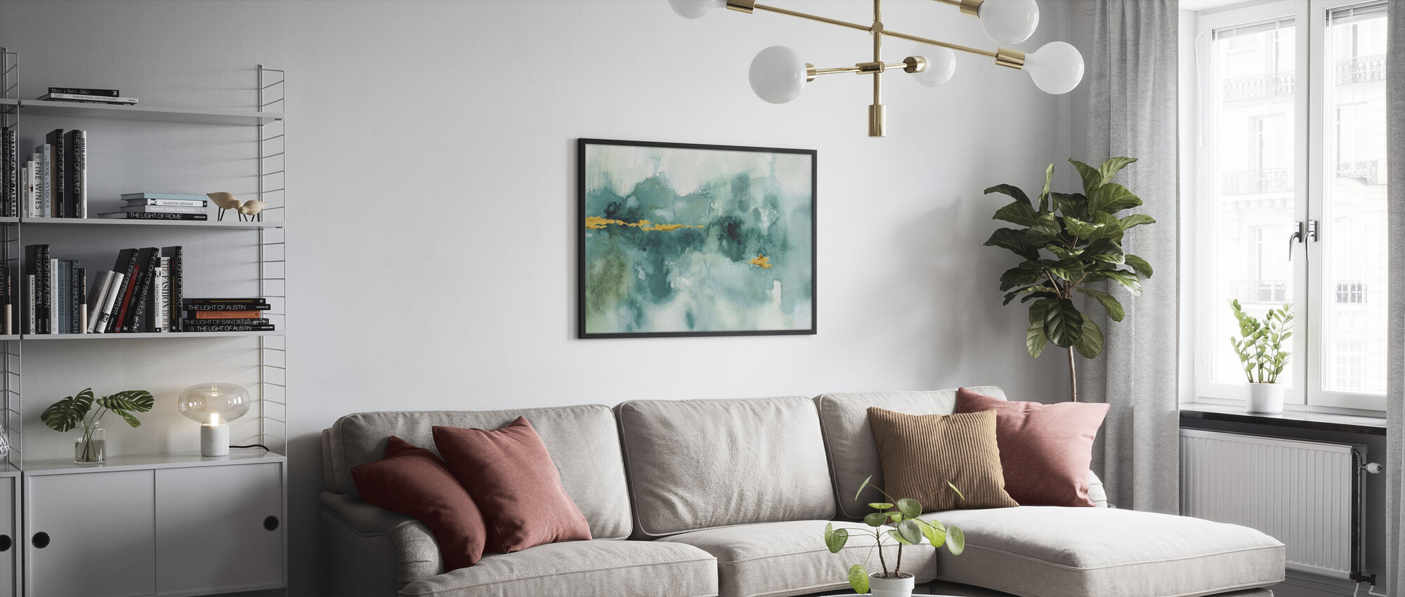My Greenhouse Watercolor 3 - Framed print - Living Room
