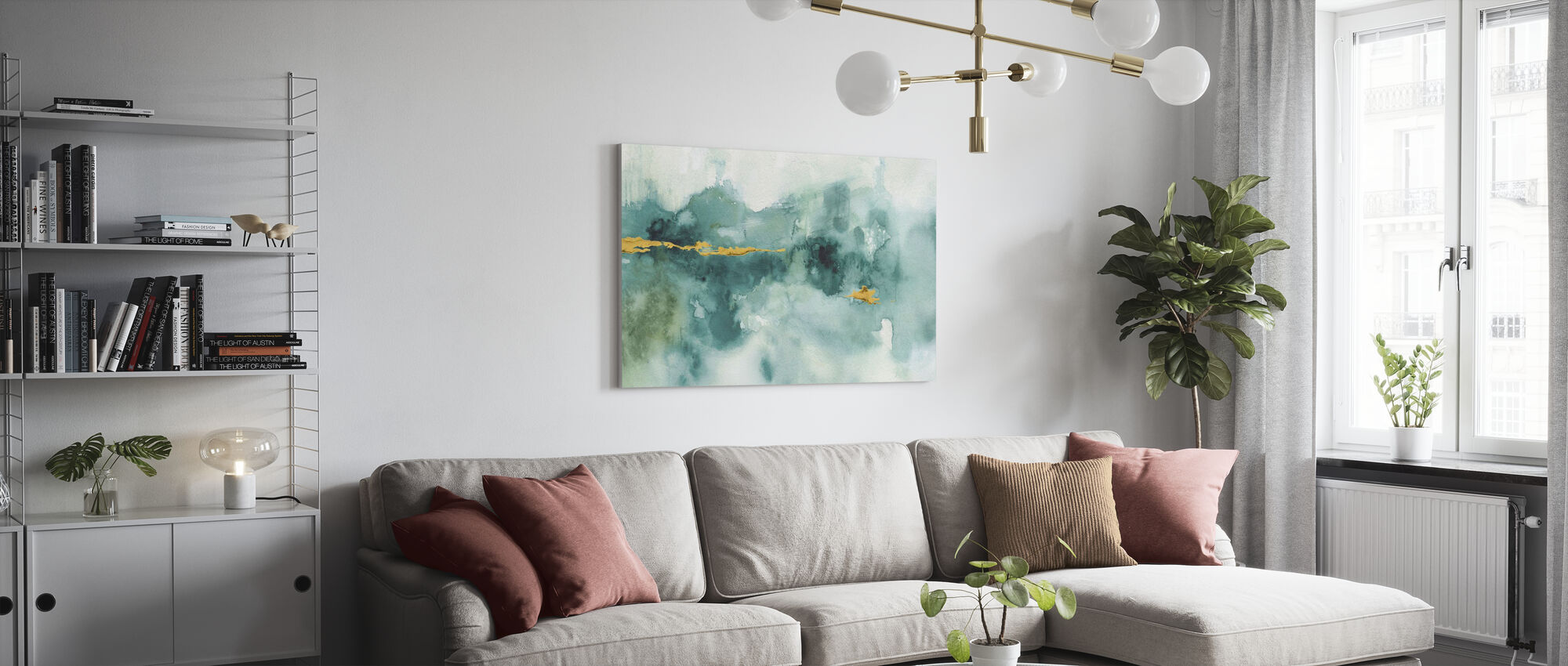 My Greenhouse Watercolor 3 - Canvas print - Living Room
