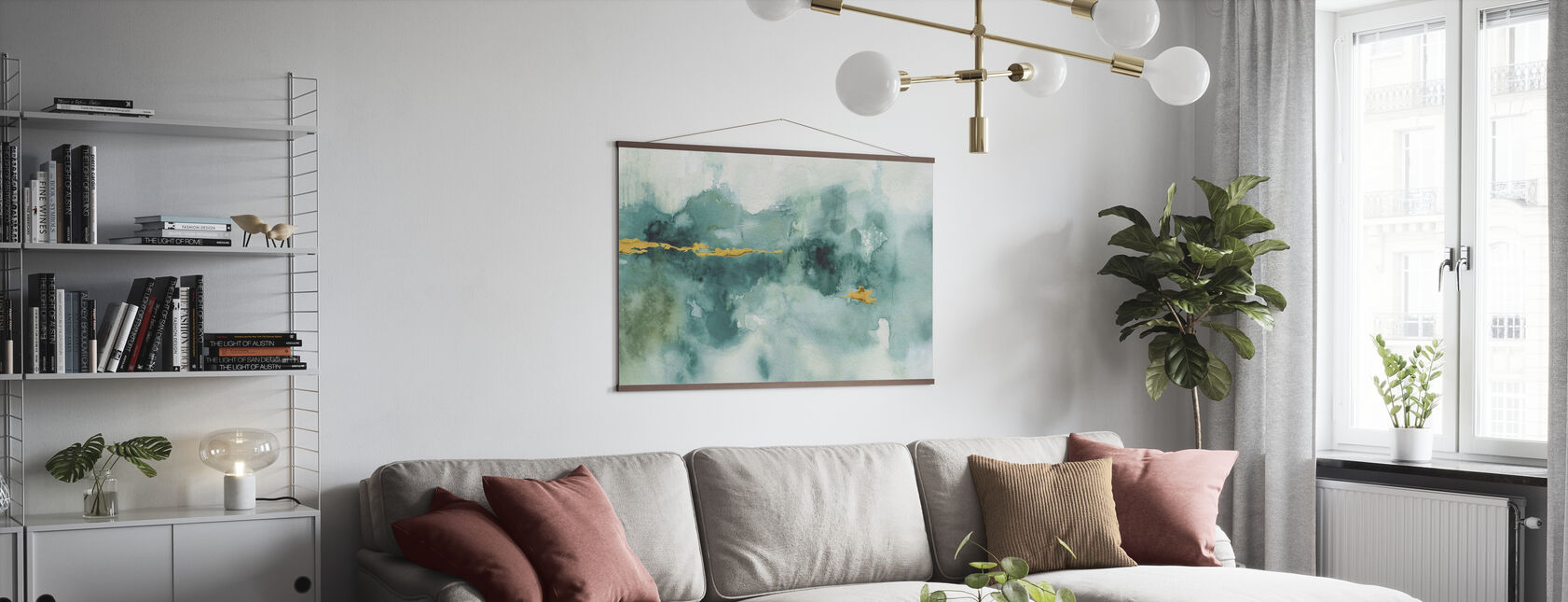 My Greenhouse Watercolor 3 - Poster - Living Room