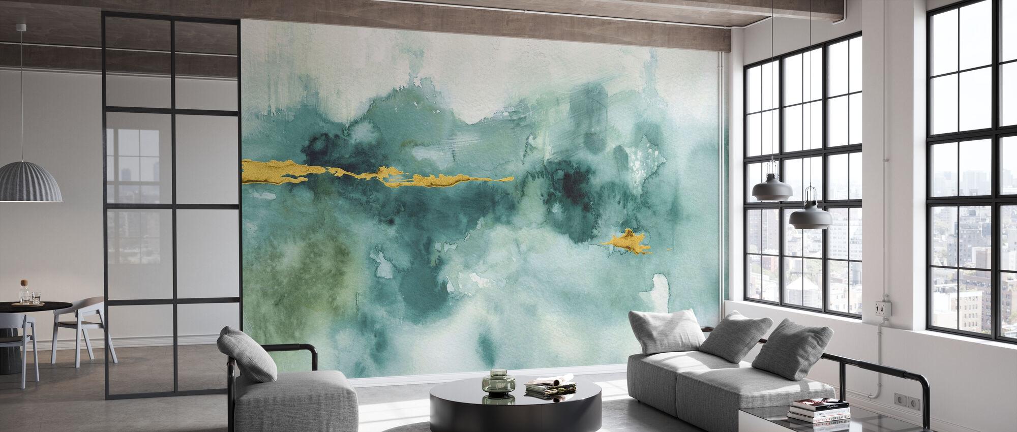 Min drivhus akvarell 3 - Tapet - Kontor