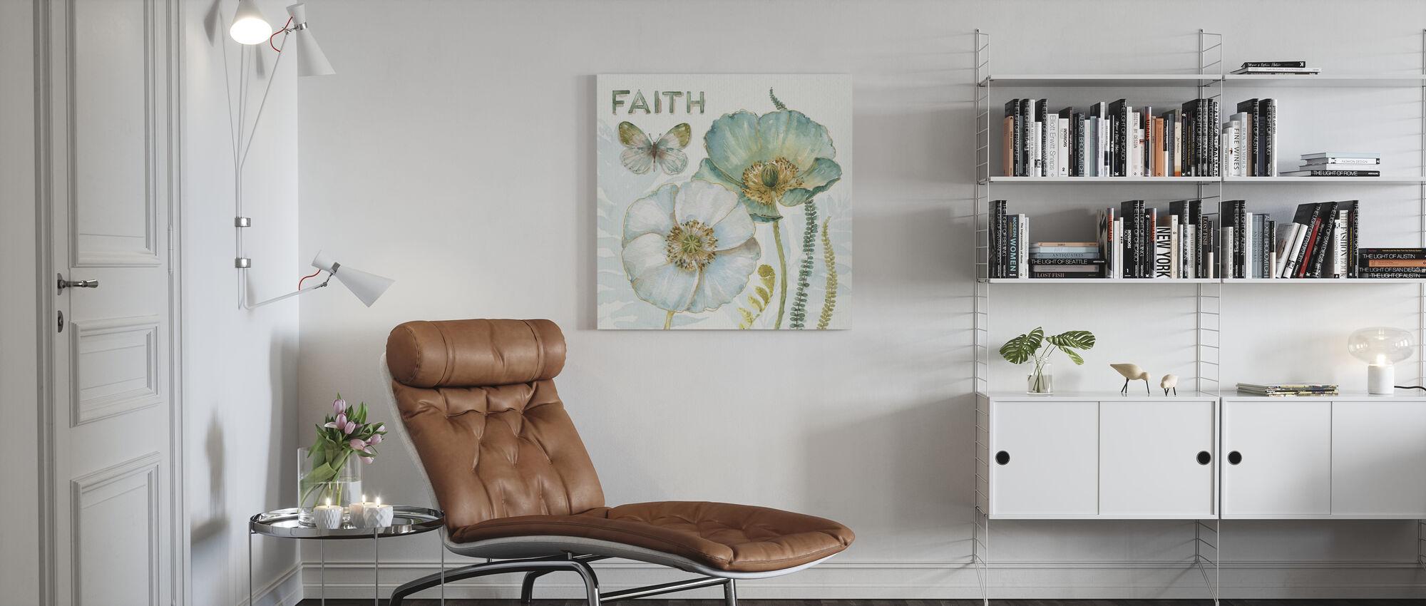 My Greenhouse Flowers - Faith - Canvas print - Living Room