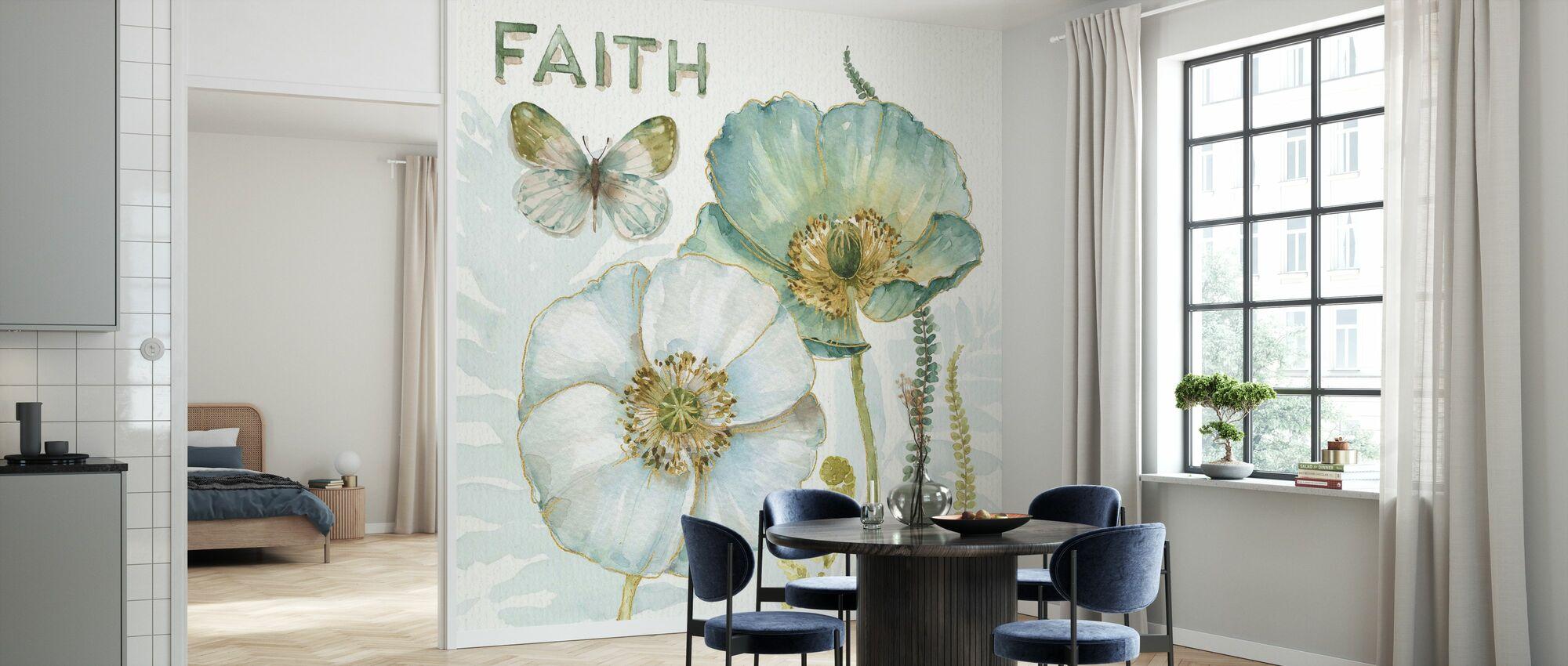 My Greenhouse Flowers - Faith - Wallpaper - Kitchen