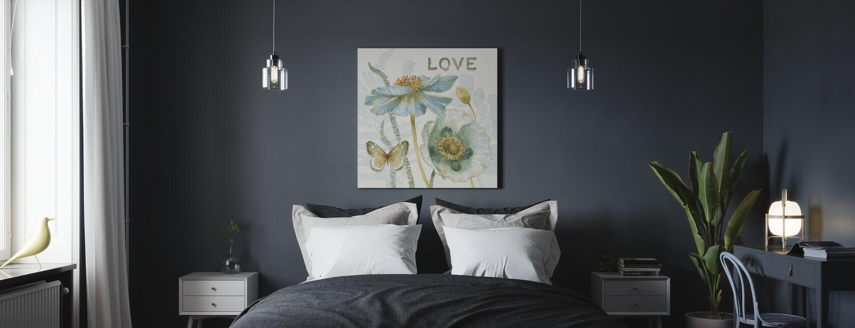 Mein Gewächshaus Blumen - Liebe - Leinwandbild - Schlafzimmer
