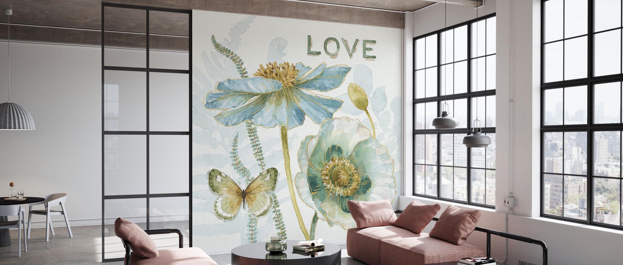 Mine drivhus Blomster - Kjærlighet - Tapet - Kontor