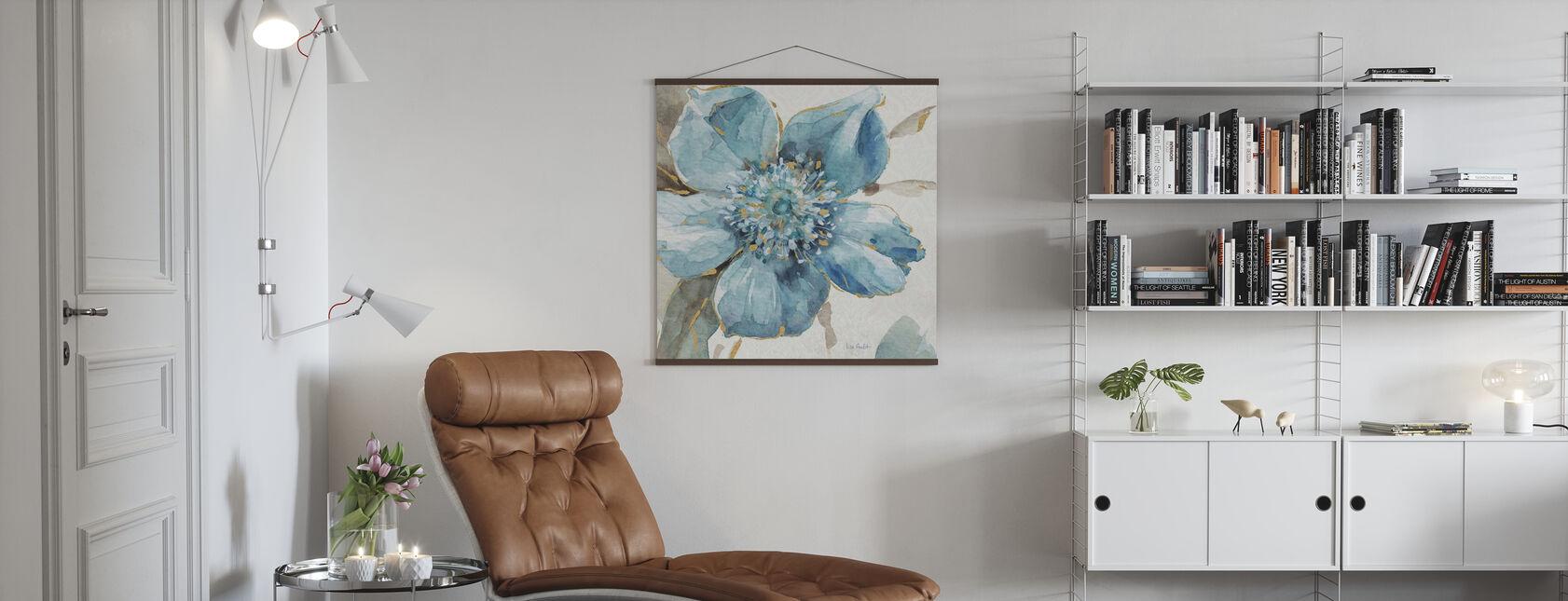 Indigold Floral 2 - Poster - Living Room