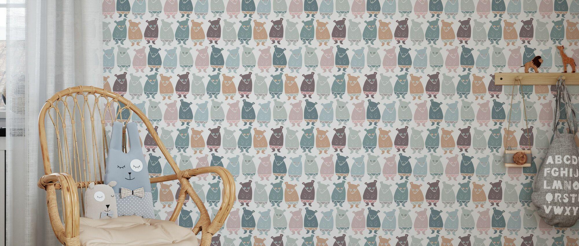 Bear Grills Soft - Wallpaper - Kids Room