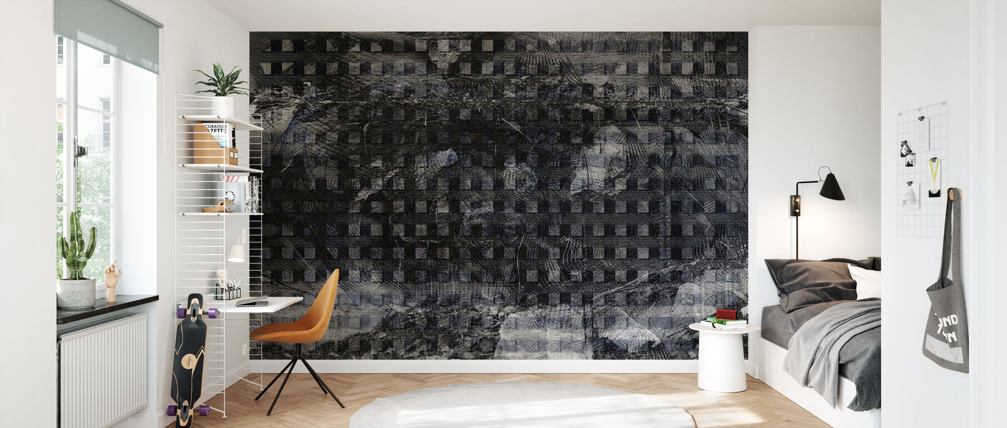 Orchid Security Chaos Grey - Wallpaper - Kids Room