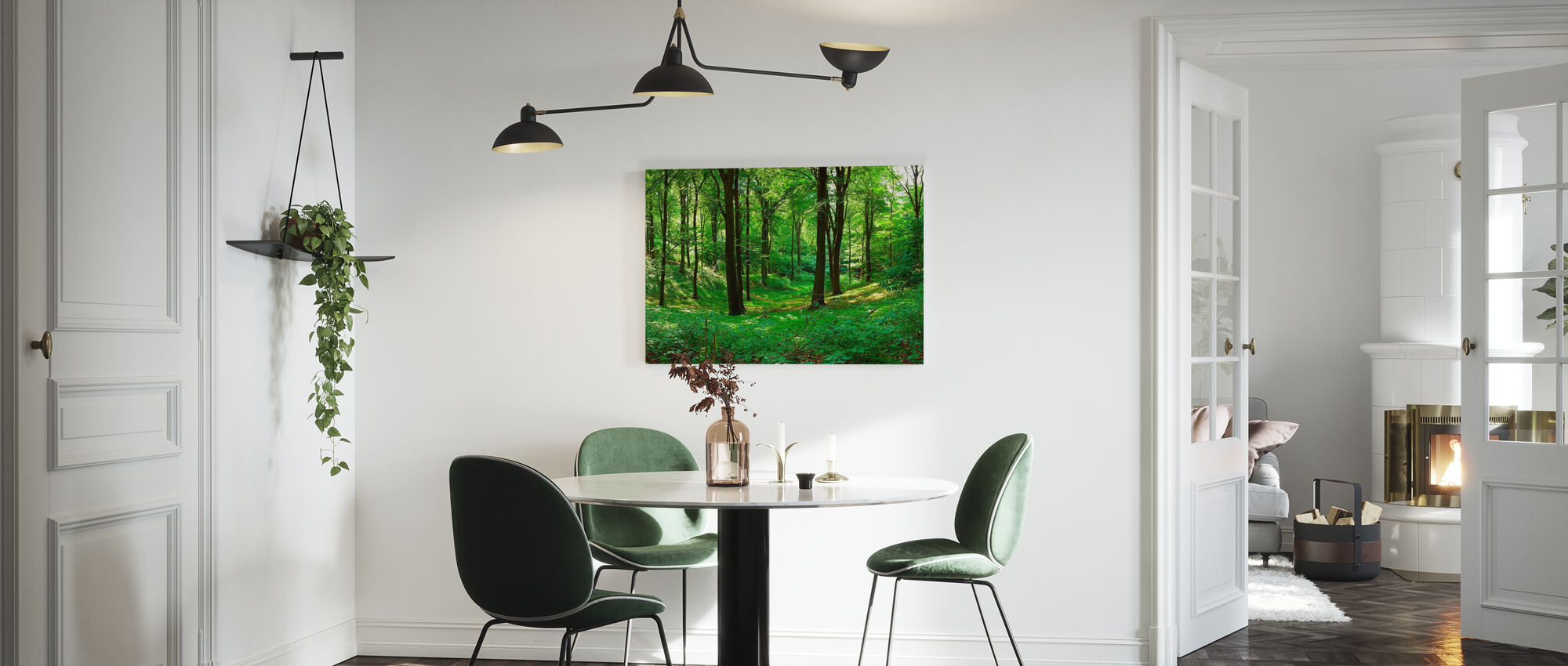 Panorama forest - Canvas print - Keuken