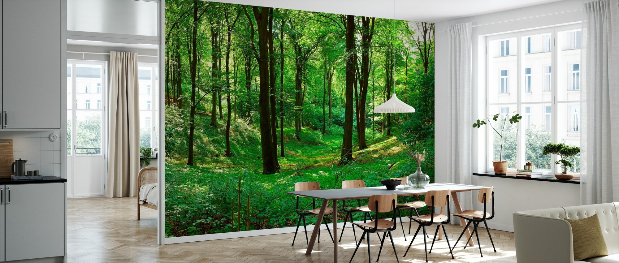 Panorama forest - Wallpaper - Kitchen