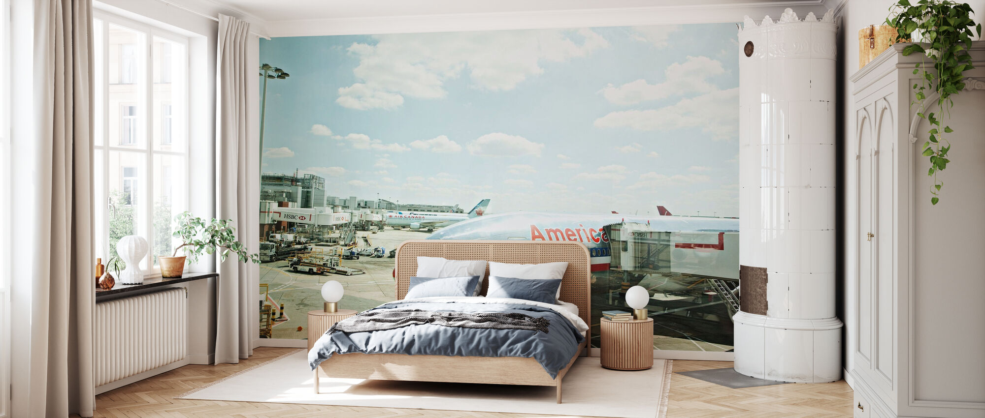 Flygplan i Heathrow, England - Tapet - Soverom