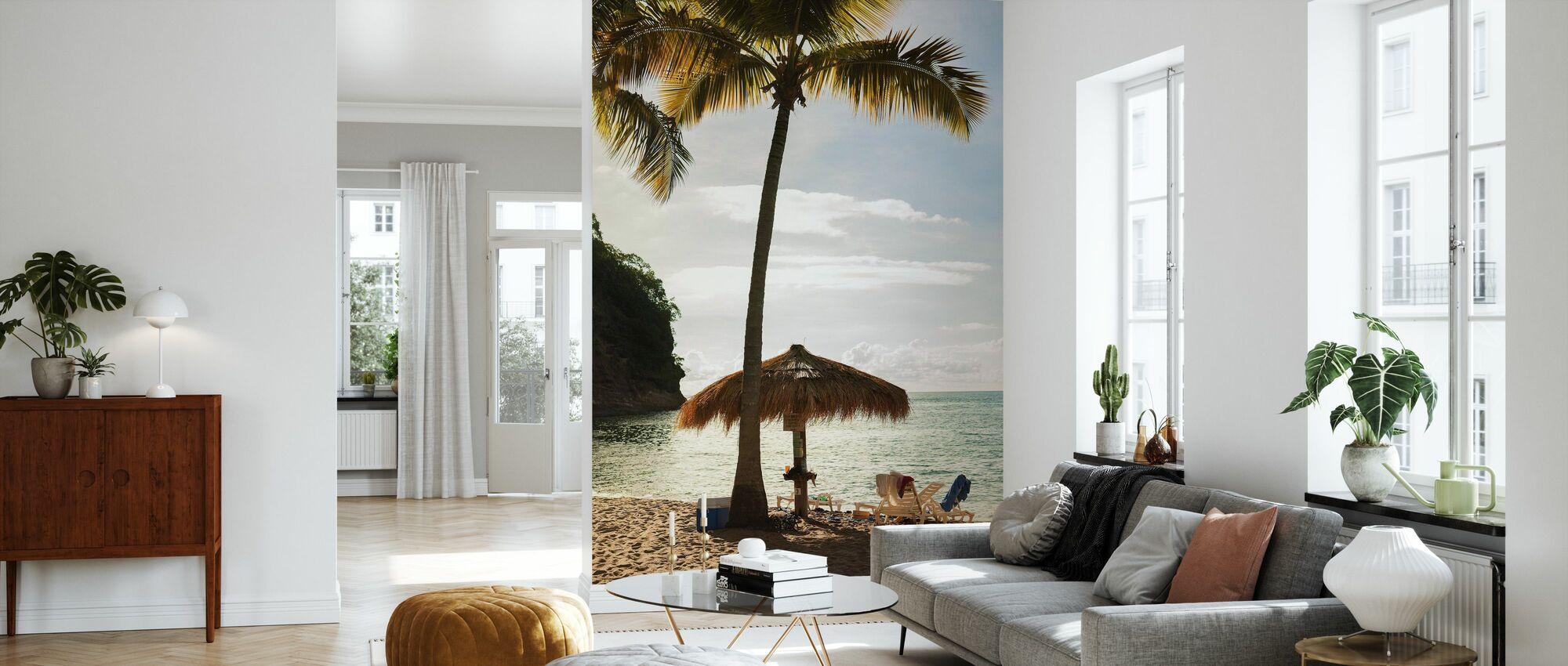 Perfecte plek in Saint Lucia, Caraïben - Behang - Woonkamer