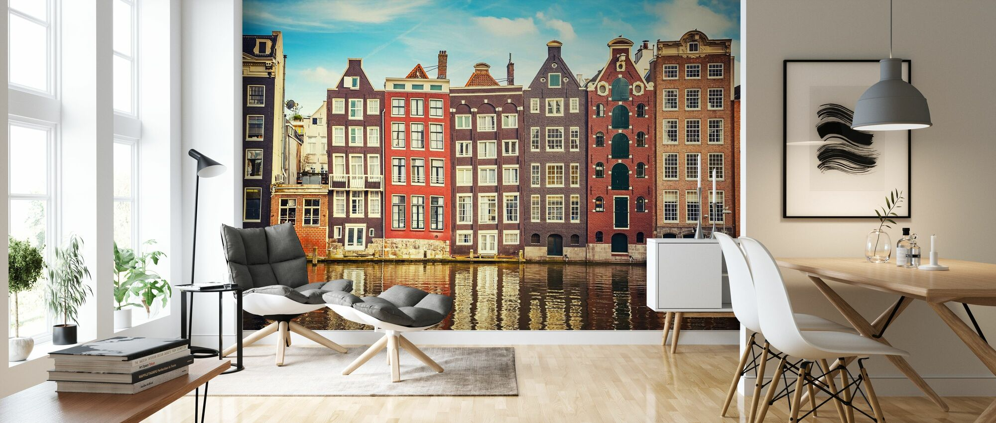 Amsterdam Houses with Water - Wallpaper - Living Room