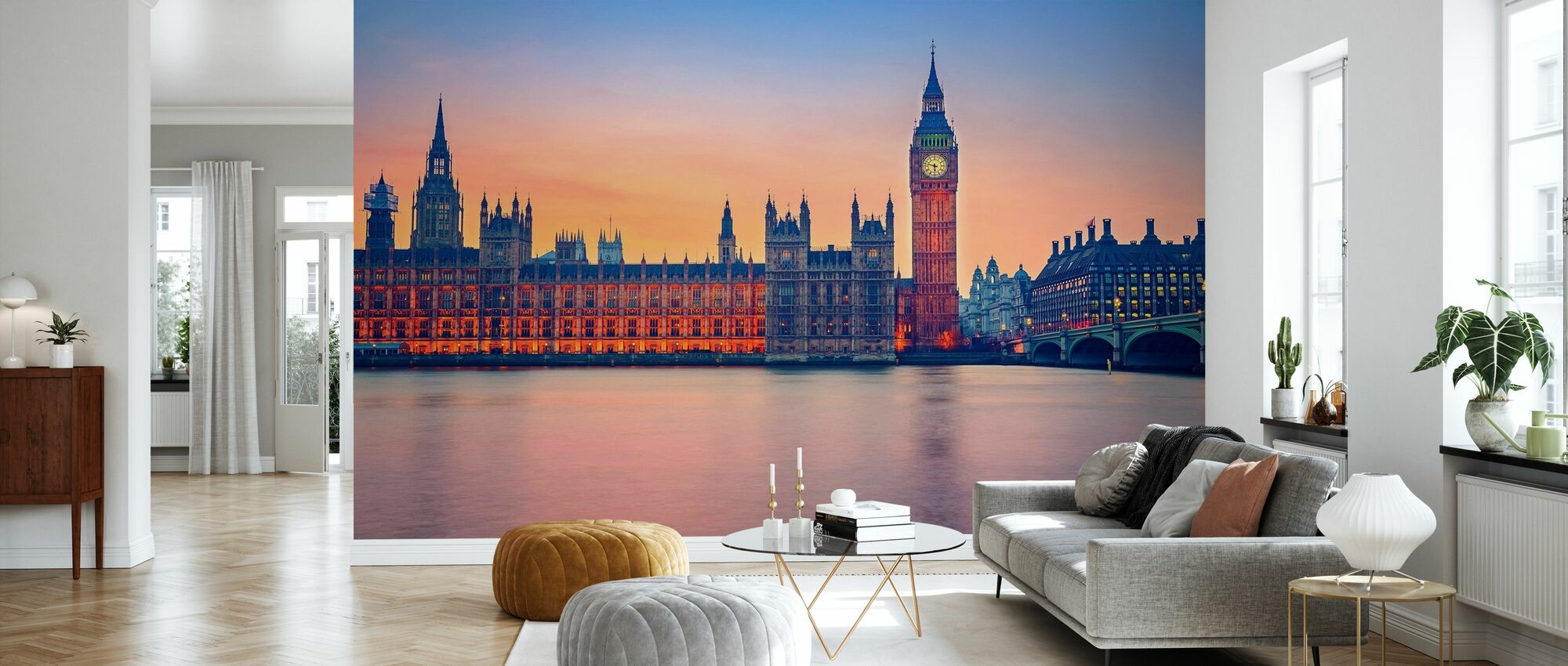 Big Ben and Houses of Parliament - Wallpaper - Living Room