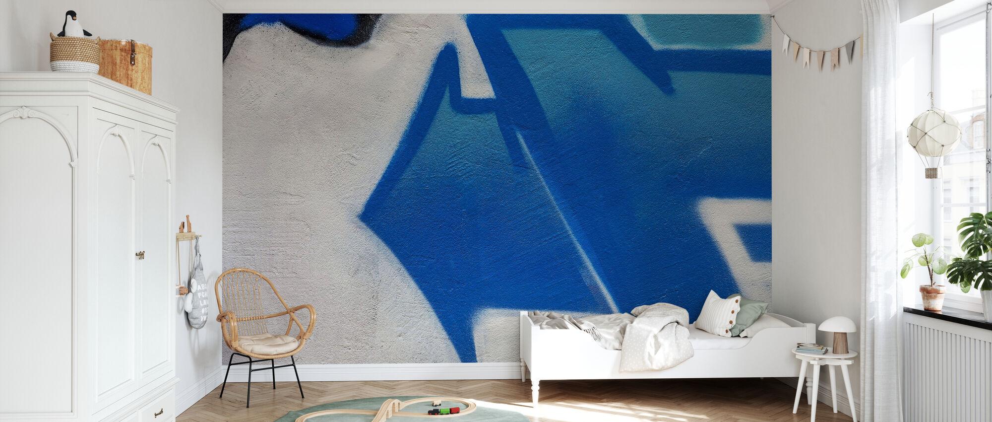 Graffiti Flèche Bleue - Papier peint - Chambre des enfants