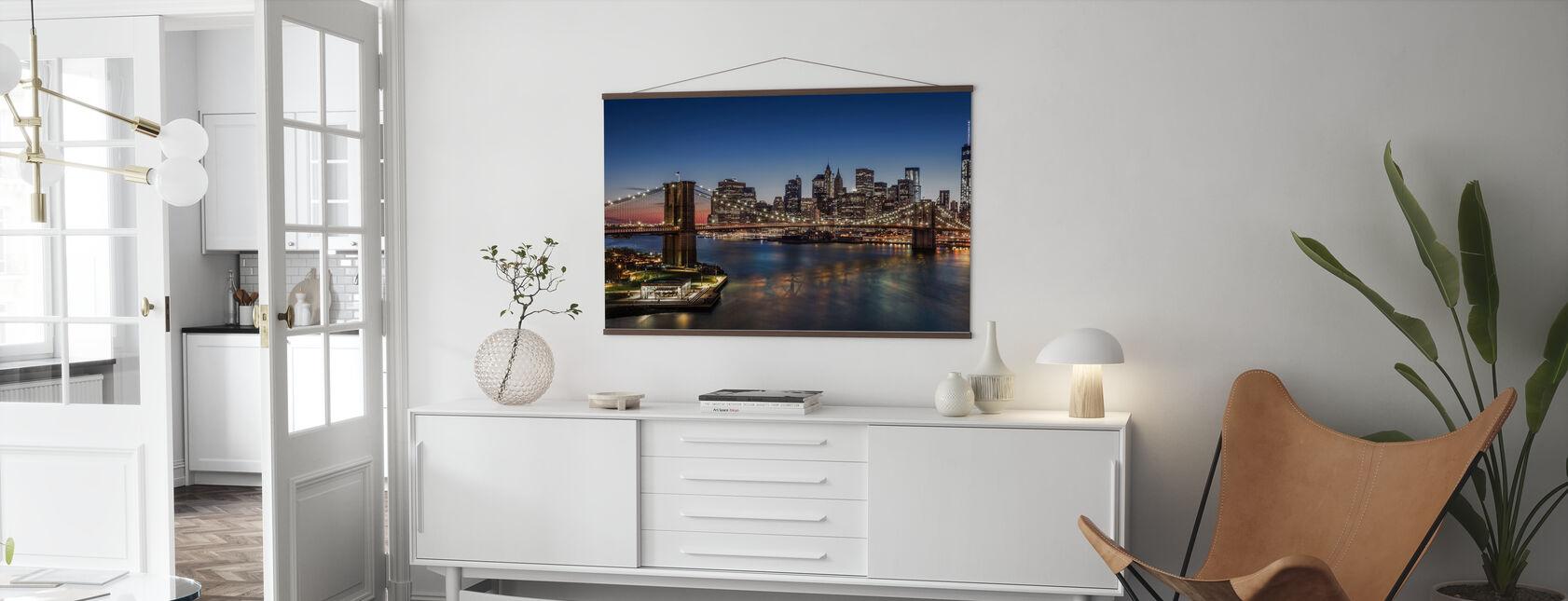 Brooklyn Bridge og Manhattan - Plakat - Stue