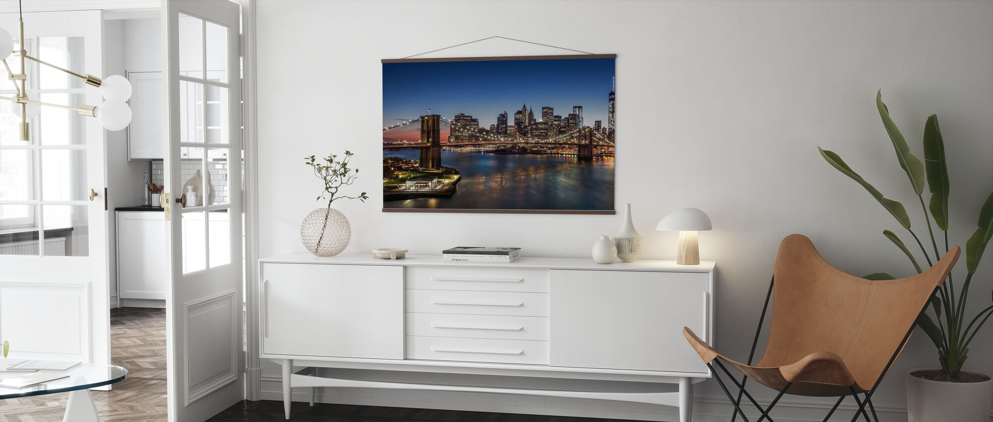 Brooklyn Bridge and Downtown Manhattan - Poster - Living Room