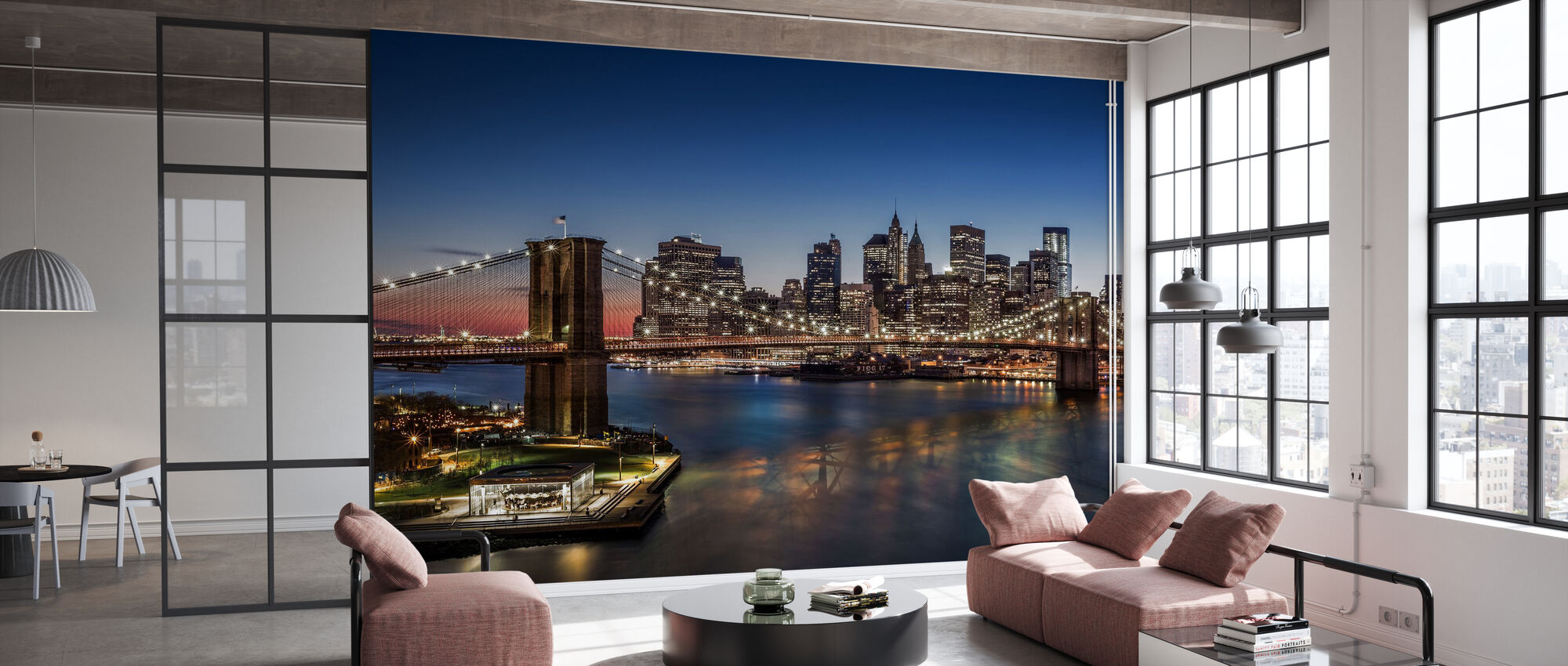 Brooklyn Bridge and Downtown Manhattan - Wallpaper - Office