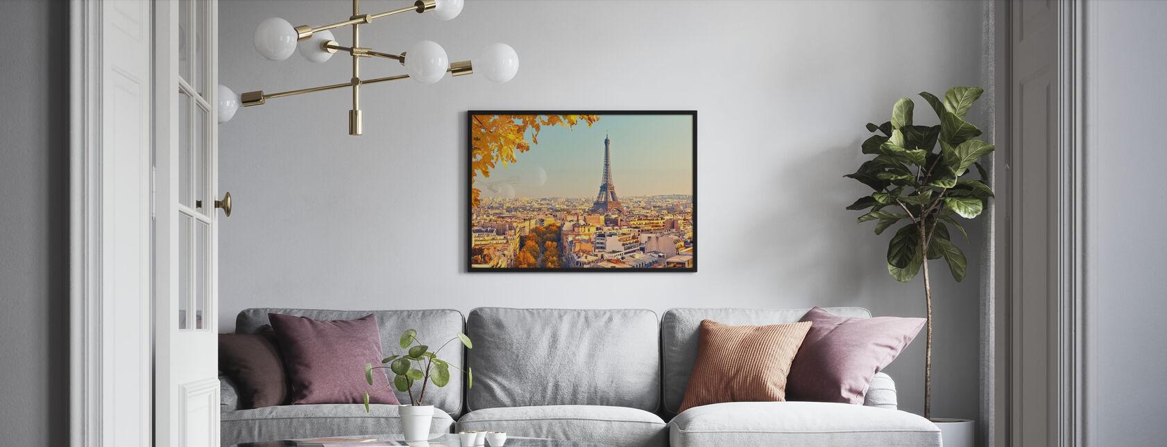 Eiffel-torni syksyn näkymä - Kehystetty kuva - Olohuone