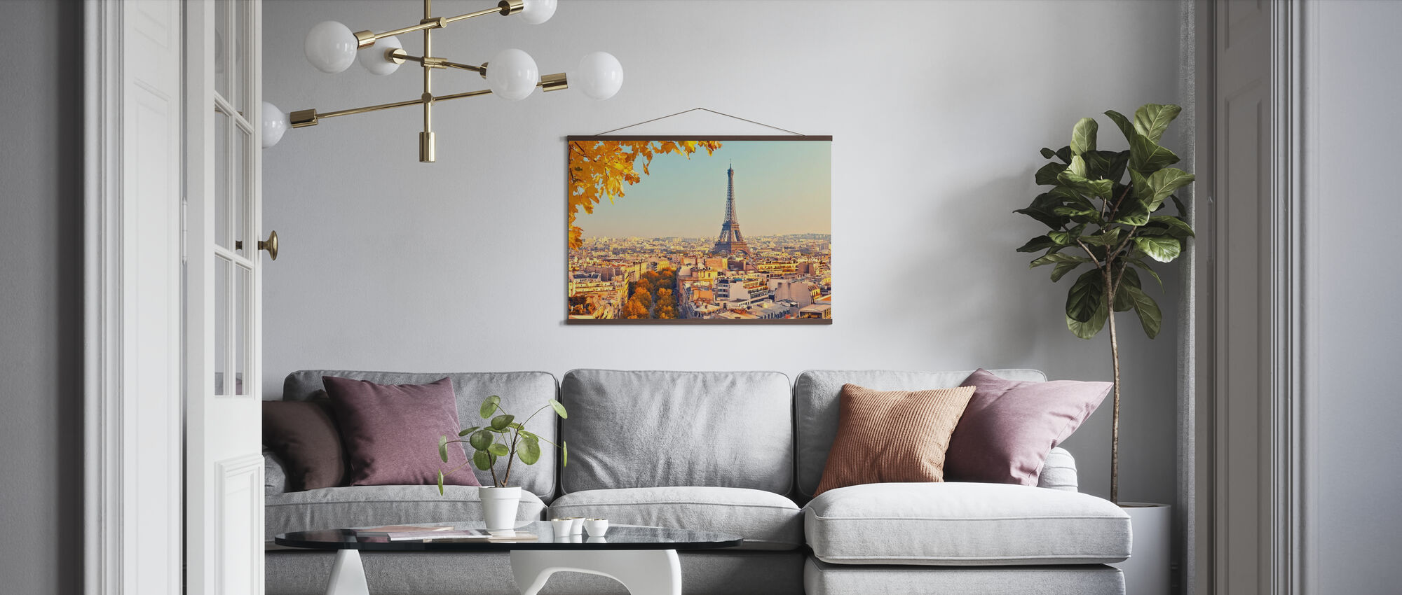 Eiffel Tower Autumn View - Poster - Living Room