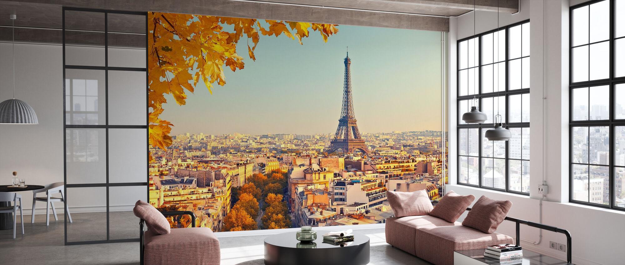 Eiffel-torni syksyn näkymä - Tapetti - Toimisto