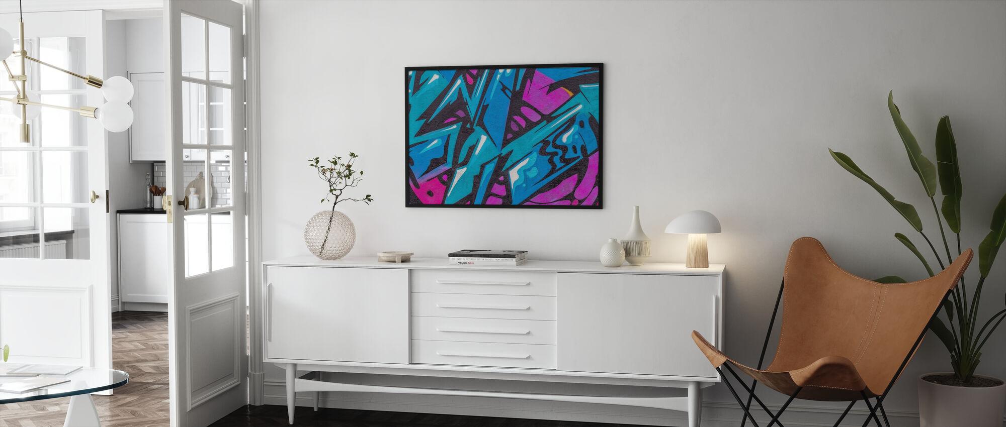 Modische Farbe Graffiti - Poster - Wohnzimmer