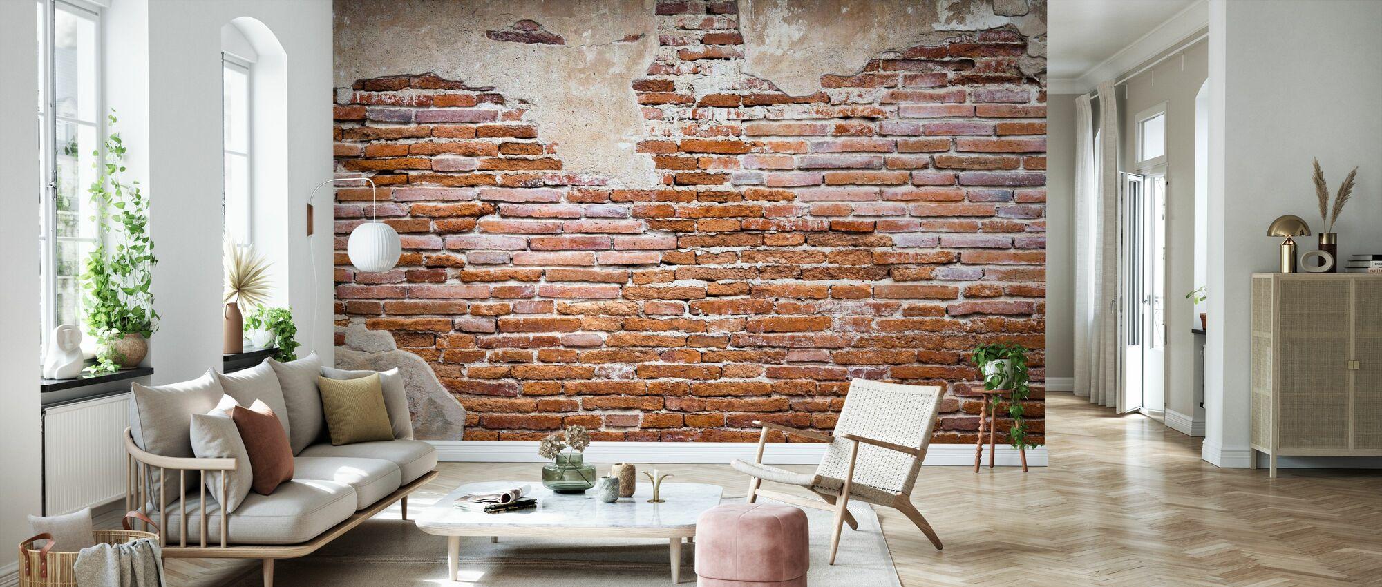 Fragment of Brick Wall - Wallpaper - Living Room