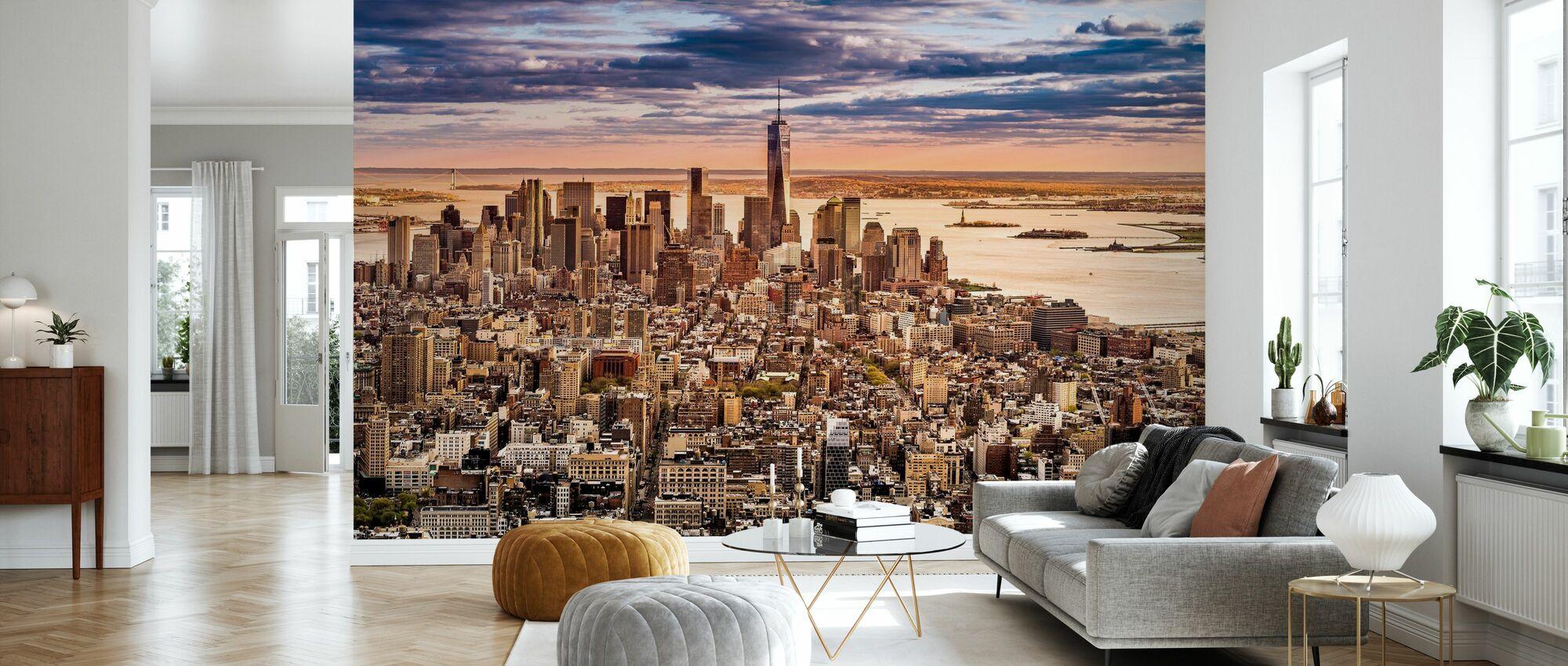 New York Panorama before Sunset - Wallpaper - Living Room